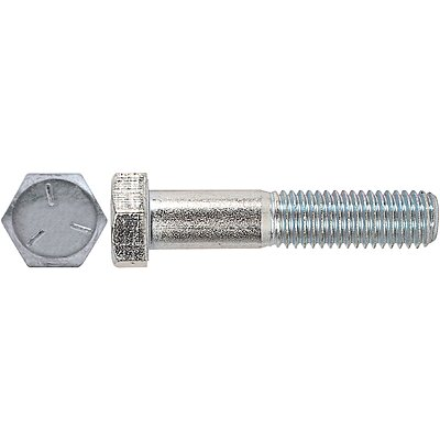 5 3//8-16x4 Grade 5 Hex Head Cap Screws Bolts Partial Thread Zinc