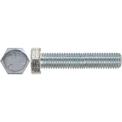 Type F 5//16-18 Thread Size Steel Thread Cutting Screw Hex Washer Head Pack of 5 Zinc Plated Finish 4 Length